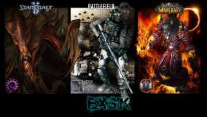 Wallpaper - SC2, BF3, WoW - Eksik by Aryiana-dzyn