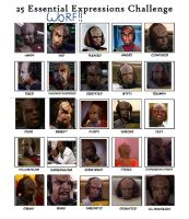 25 Expressions: Worf by Master-Kat-Illusion