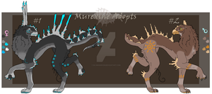 Murexine Adoptables number 2 -Both Open- by Da-Mushroom