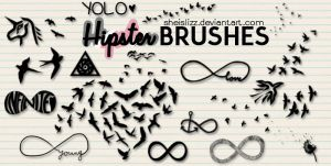 Hipster Brushes By SheIsLizz by SheIsLizz