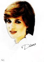 Drawing Lady Diana by kawl4sure