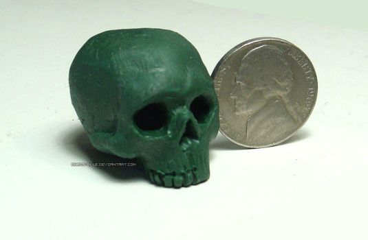 Tiny Human Skull by Chris-Blue