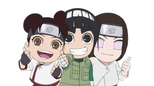 Render Naruto / Chibi TenTen, Rock Lee y Neji by gamazor