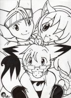 The AWESOME trio by Sparky2hot4ya