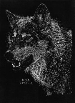 Final Design - Wolf - Black Rhino Co. T-Shirt by JackSephton