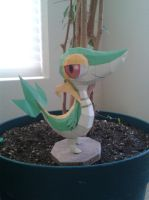 Snivy Papercraft by Amber2002161
