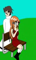 Orihime-and-Aizen-art-trade by ssvineman