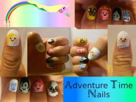 Adventure Time Nails by Celeste707