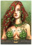 POISON IVY Artist Proof Sketch Card by Erik-Maell