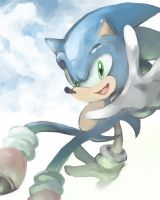 Sonic Speedpaint by lonerurouni187