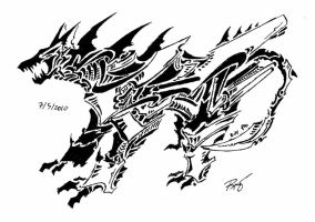 tribal dragon 12 by RoyCorleone