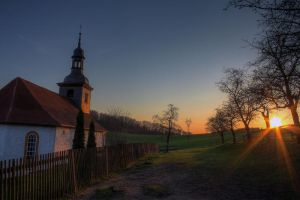 beautiful sunset at chapel by Springstein