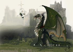 Dragons Castle WIP by Decadia