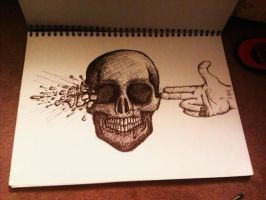 Blow your brains out skull by Brynios