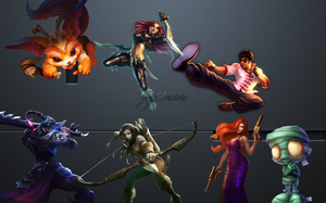 Fond d'ecran / Wallpaper League of Legends N1 by Crisiris