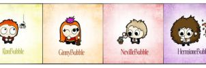 Bubbleheads: Harry Potter by littlemisswistful