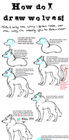How do I draw wolves by Salokorai