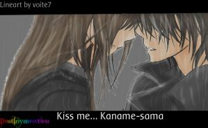 Kiss Me- Kaname Sama- Coloured Lineart by Meg-L-Walker
