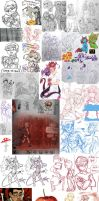 Sketchdump_February-April_2017 by KoTana-Poltergeist