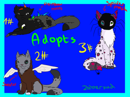 Adoptables II - 20 Points by Zabersud