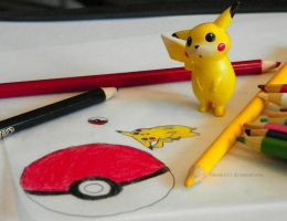 Look what you drew, Pikachu! by Bimmi1111