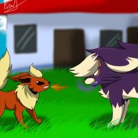 Pokefic: Shadow eevee (2) by annathewerewolf