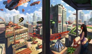 City view by Beaver-Skin