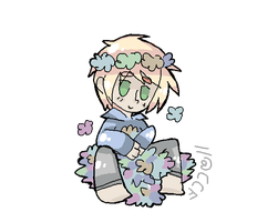 Oh noes is he allergic to flowers by CaraTheHedgehog