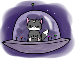 Cat Spaceship by Hoozuki
