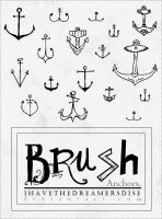 Mini Anchors - Brush by Ihavethedreamersdise