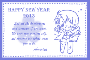 (Hetalia) HNY 2013 card from America to you by Hyperkaoru13