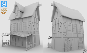 [WIP] Courtyard Building (Sides) by discopears