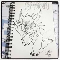 INKtober Day 13 Stitch by BigDogsStudio