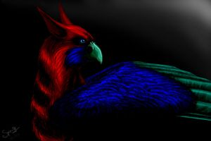 Red Gryphon by Spirity-N