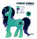 Cosmic Shield - Adopted OC Pony by RaveRider