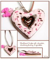 Strawberry Shortbread Pendant by Tonya-TJPhotography