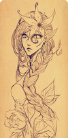 Flower doodle wip by minghii