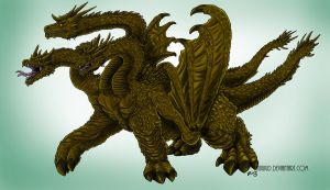 Legendary Ghidorah Concept, Commission by kaijukid