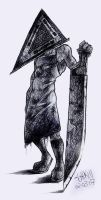 Pyramid Head 2 by shad-zee