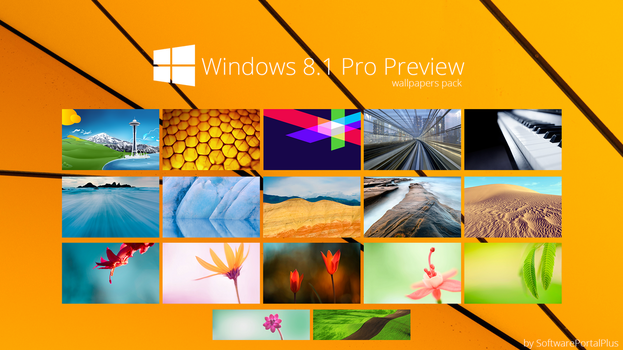 Windows 8.1 Pro Proview : Wallpapers Pack by SoftwarePortalPlus