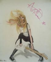 Avril Lavigne on Guitar by JeremyOsborne