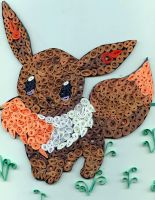 Quilling Project - Eevee by Guzhenn