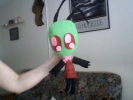 Zim Plushie Completed YAY by SunaBuna