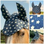 Blue Star Full Size Horse Bonnet by TwistedHorseware