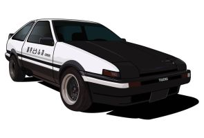 AE86 by illustrated90