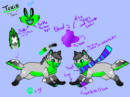 Toxin ref sheets by XShadowstar