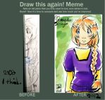 Draw again meme LA140 by KitsunekoShojo