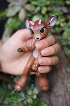 Timber the Little Deer Ball Jointed Doll 5 by vonBorowsky