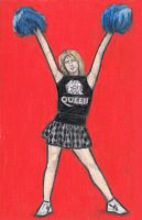 Roger Taylor as a cheerleader by gagambo