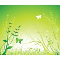 green abstract landscape art by cgvector